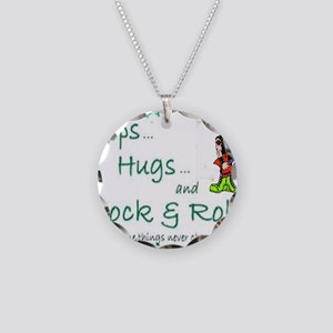 steps hugs rocker Necklace Circle Charm