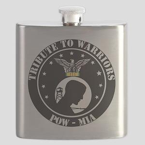 TRIBUTE TO WARRIORS RUN POW MIA Flask