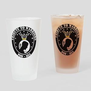 TRIBUTE TO WARRIORS RUN POW MIA Drinking Glass