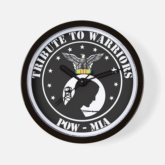 TRIBUTE TO WARRIORS RUN POW MIA Wall Clock