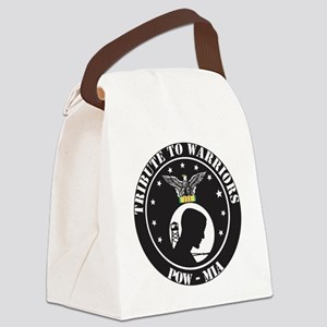 TRIBUTE TO WARRIORS RUN POW MIA Canvas Lunch Bag