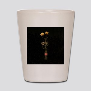 Yellow Roses Square 3 Shot Glass