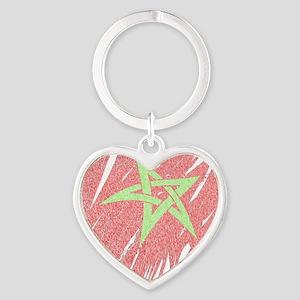 Flag2 Heart Keychain
