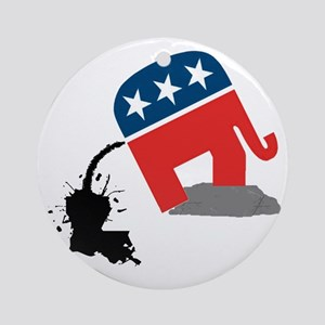 republican-logo-dump Round Ornament
