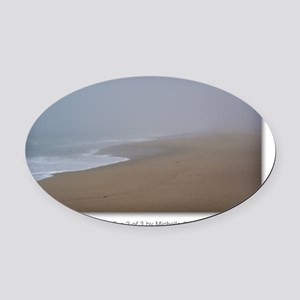 NCards_Calming Fog 2 of 3 copy Oval Car Magnet