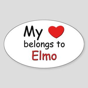 My heart belongs to elmo Oval Sticker