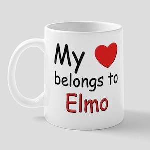 My heart belongs to elmo Mug