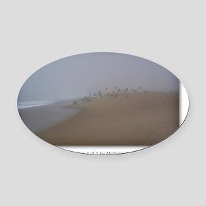 NCards_Calming Fog 3 of 3 copy Oval Car Magnet