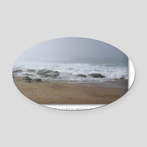 NCards_Calming Fog 1 of 3 copy Oval Car Magnet