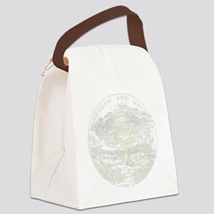 Vintage Vermont State Flag Canvas Lunch Bag