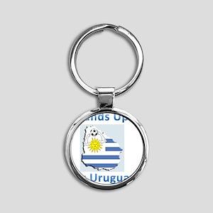 uruguay handball Round Keychain