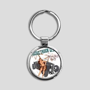 Hula Girl ctb Round Keychain