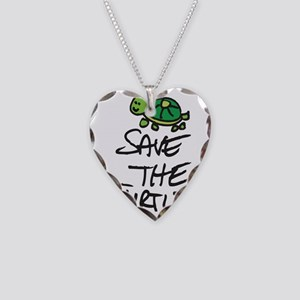 BABY TURTLE HATCHLING Necklace Heart Charm
