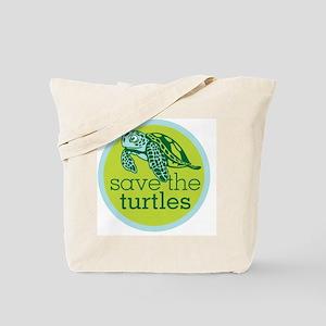 Save Turtles Logo Tote Bag