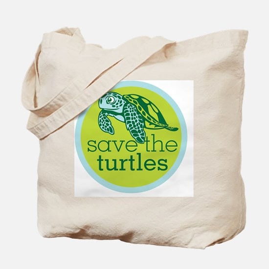Save Turtles Logo Tote Bag