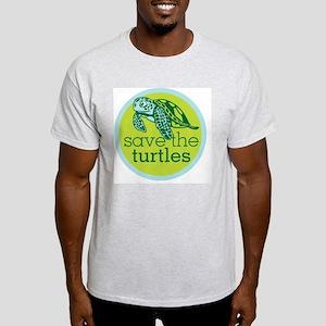 Save Turtles Logo Light T-Shirt