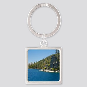 Tahoe Beauty Square Keychain