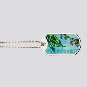 Four Turtles at Sea Dog Tags