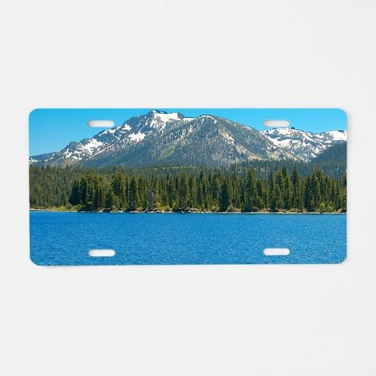 Tahoe Blue Aluminum License Plate