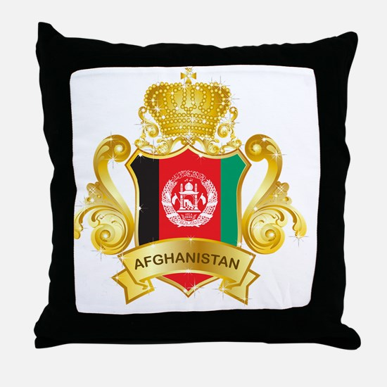 Gold1Afghanistan1 Throw Pillow