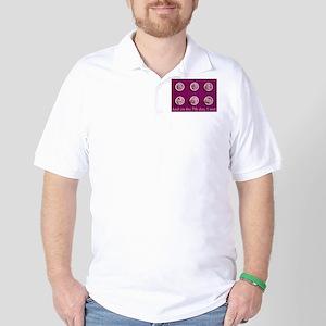 7th day I rest - condom Golf Shirt
