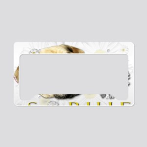Sopie White License Plate Holder