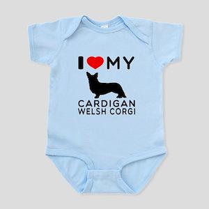 I Love My Cardigan Welsh Corgi Infant Bodysuit