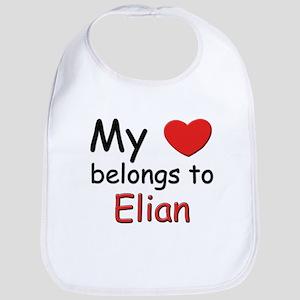 My heart belongs to elian Bib