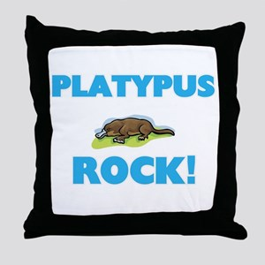 Platypus rock! Throw Pillow