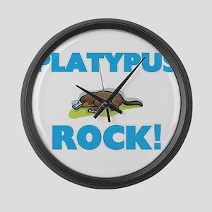 Platypus rock! Large Wall Clock