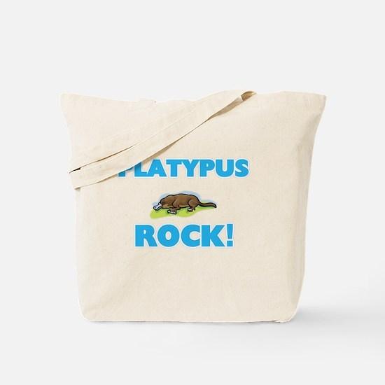 Platypus rock! Tote Bag