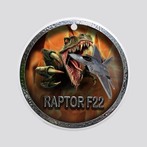 raptor f22 Round Ornament