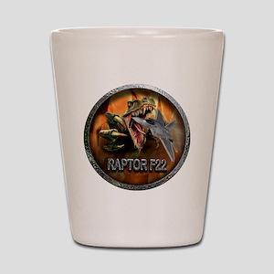 raptor f22 Shot Glass