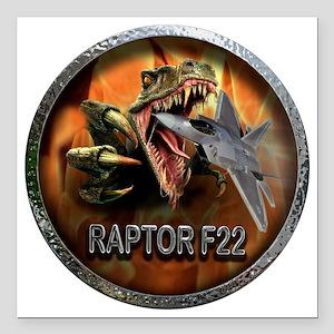 "raptor f22 Square Car Magnet 3"" x 3"""