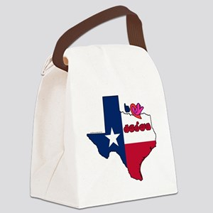 TXstateFlagILY Canvas Lunch Bag