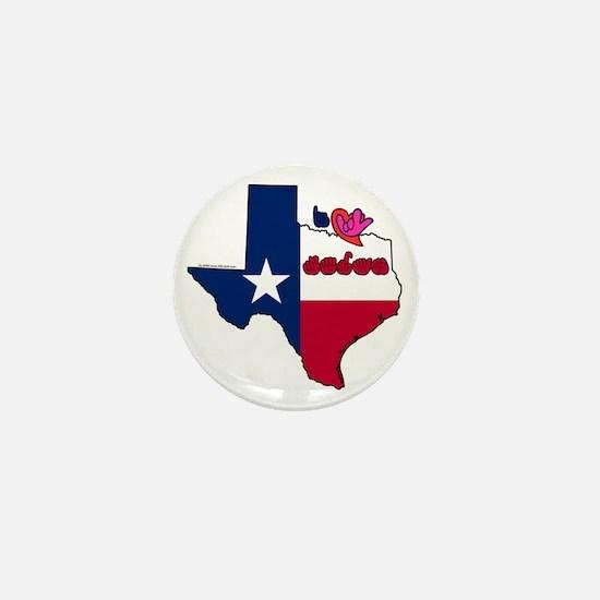 TXstateFlagILY Mini Button