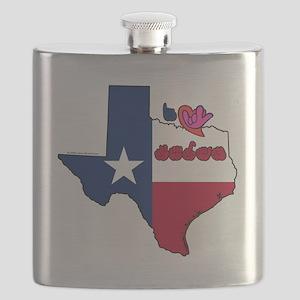 TXstateFlagILY Flask