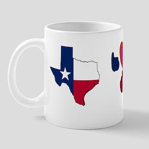 TXstateFlagILYbs Mug