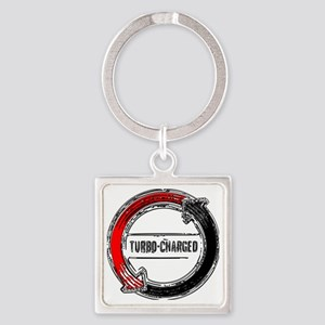 turbo color Square Keychain