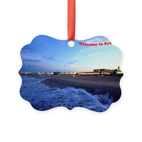 Seaside Heights Boardwalk Picture Ornament