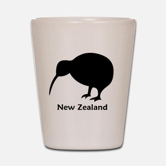 Kiwi - NZ Text Shot Glass