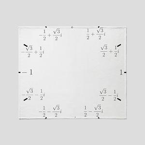 Math Clock (L)(Cart) Throw Blanket