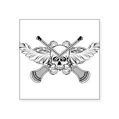 Lacrosse Skull 20XX Square Sticker 3