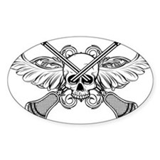 Lacrosse Skull 20XX Sticker (Oval)