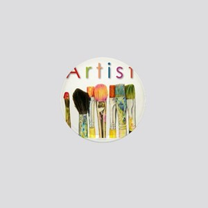 artist-paint-brushes-01 Mini Button