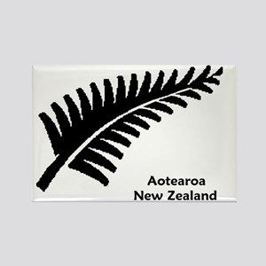 Medium Fern - NZ-Aotearoa Text Rectangle Magnet
