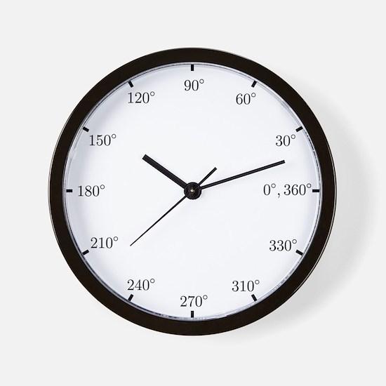Math Clock (L)(Trig-Deg-B) Wall Clock