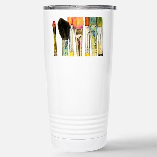 artist-paint-brushes-02 Stainless Steel Travel Mug