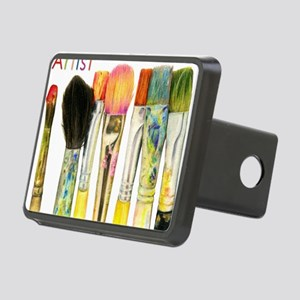 artist-paint-brushes-02 Rectangular Hitch Cover