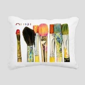 artist-paint-brushes-02 Rectangular Canvas Pillow